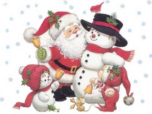 Le père Noël ammène sa hotte remplie de cadeaux pour tous les enfants sages! Marche10
