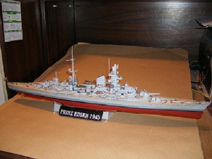 Allemande Croiseur lourd Prinz Eugen 1945 Trumpeter 1/350 réf. 05313  Imgp0638