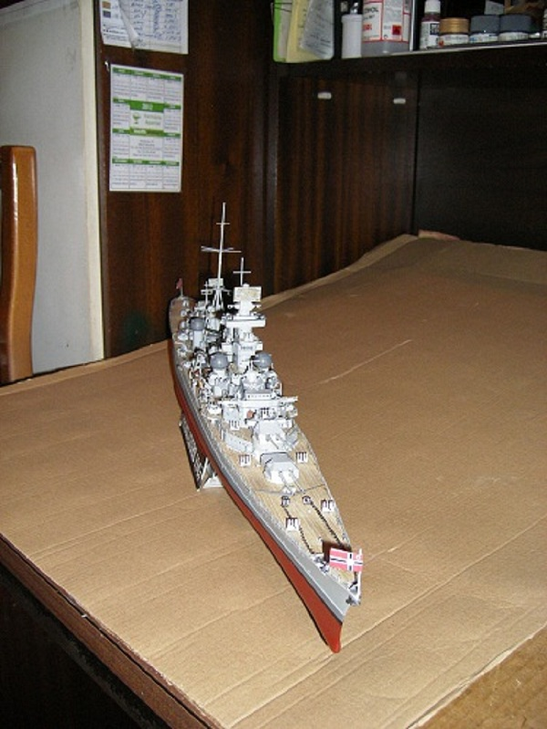 Allemande Croiseur lourd Prinz Eugen 1945 Trumpeter 1/350 réf. 05313  Imgp0640