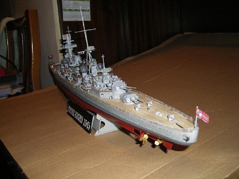 Allemande Croiseur lourd Prinz Eugen 1945 Trumpeter 1/350 réf. 05313  Imgp0641