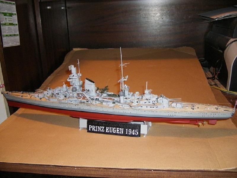 Allemande Croiseur lourd Prinz Eugen 1945 Trumpeter 1/350 réf. 05313  Imgp0642