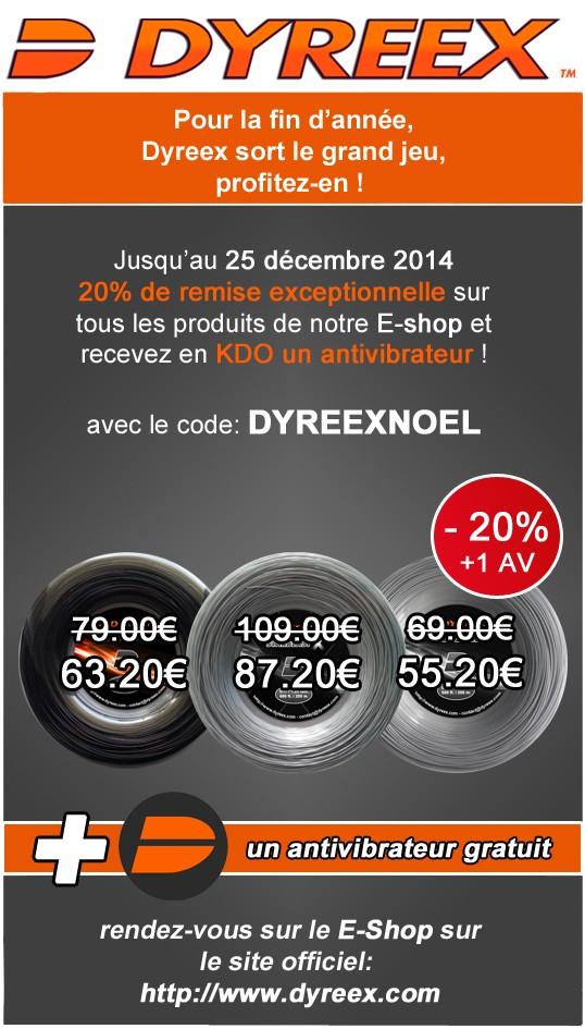 Code promotionnel sur Dyreex.com Newsle11