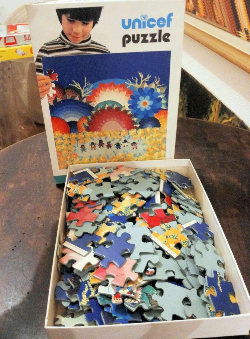[VENDO] Unicef puzzle vintage 1980 raro 20141224