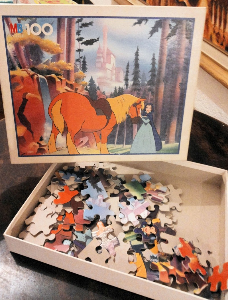 [VENDO] La Bella e la Bestia Disney puzzle Vintage MB 1992 bello raro completo 20141225