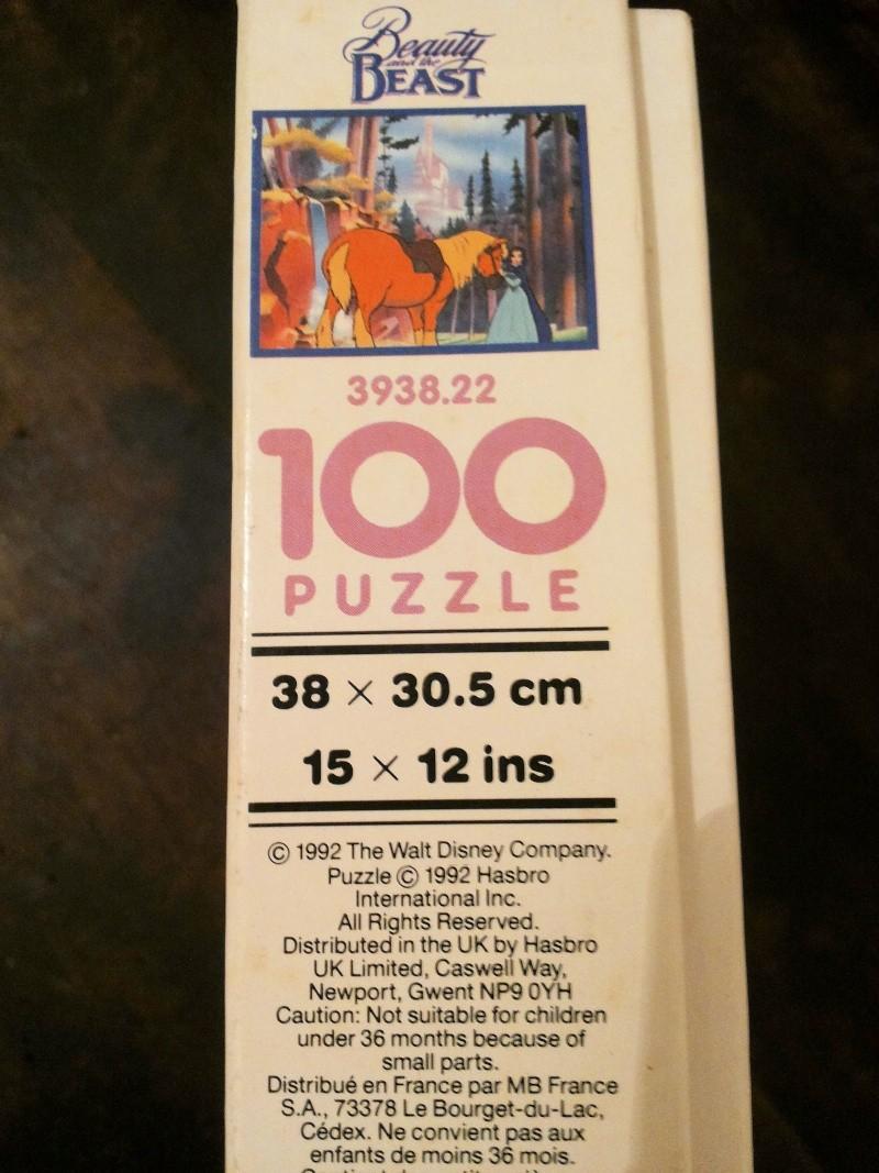[VENDO] La Bella e la Bestia Disney puzzle Vintage MB 1992 bello raro completo 20141226