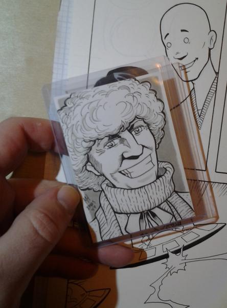 Fourth Doctor trading card art Tom_ba10