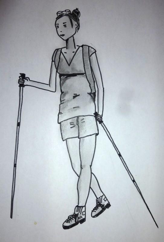 Jeune femme à la montagne - Suite Dessin18