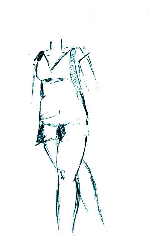 Jeune femme à la montagne - Suite Esquis10