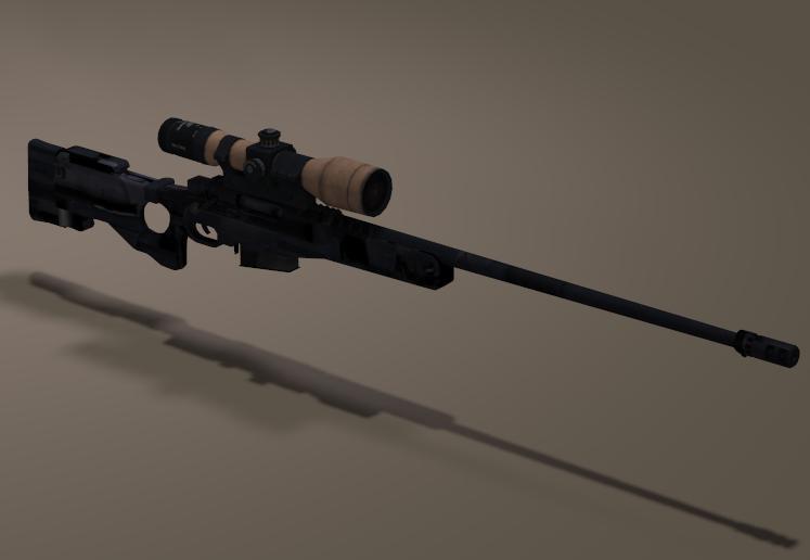 L11A3 Sniper Rifle 3d model L11a310