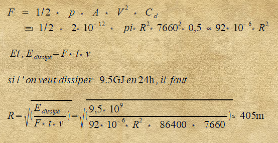 """""""Parachute"""" depuis l'orbite basse (ISS) Formul11"""