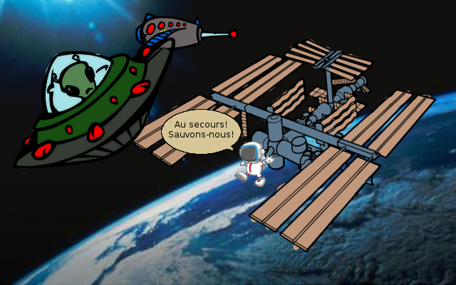"""Parachute"" depuis l'orbite basse (ISS) Menace10"