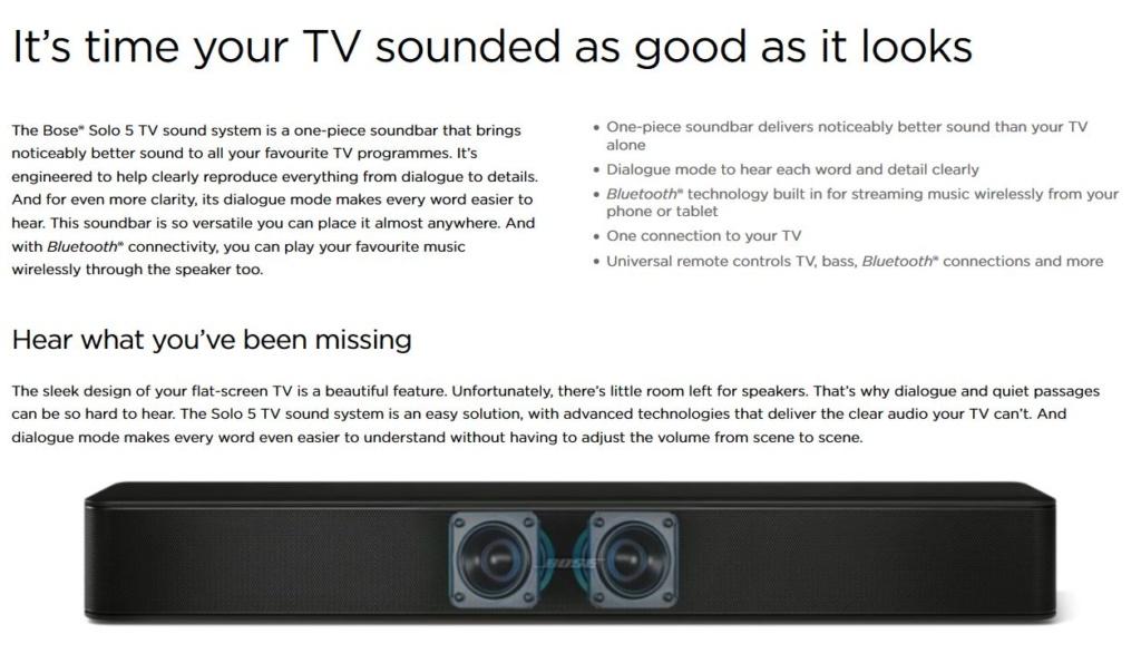 Bose Solo 5 TV Soundbar System 0511