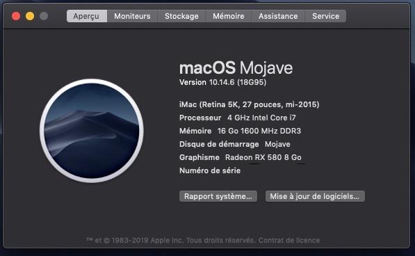 macOS Mojave 10.14.6 Mise a jour Supplémentaire (18G95) Captur17