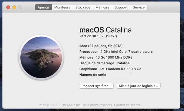 Mise a jour Catalina 10.15.2 (19C57) Captur22