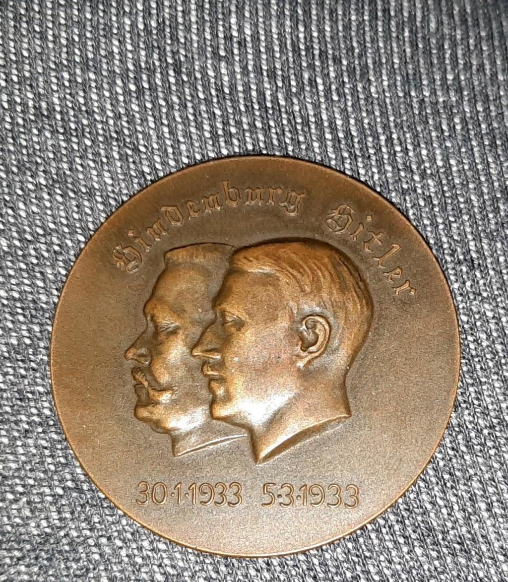 médaille de table allemande élections 1933 20210281