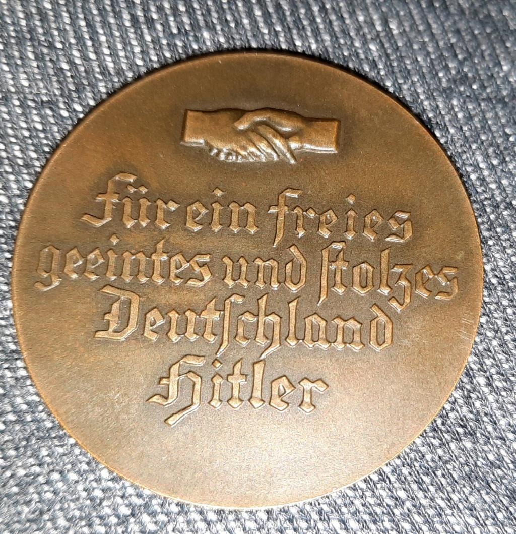 médaille de table allemande élections 1933 20210282
