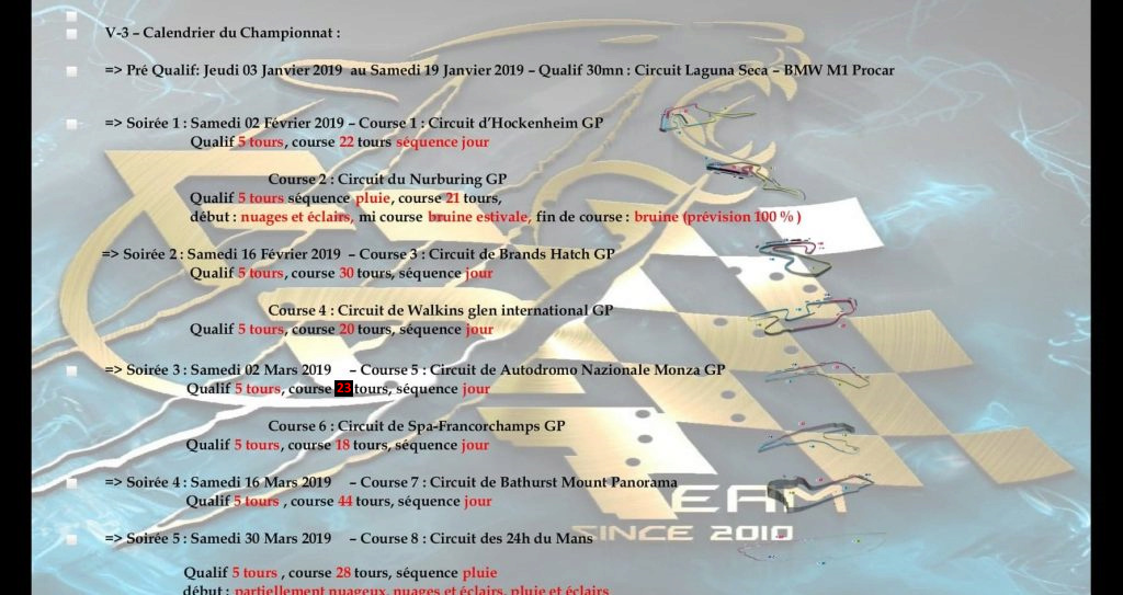 Championnat duel series  Forza10
