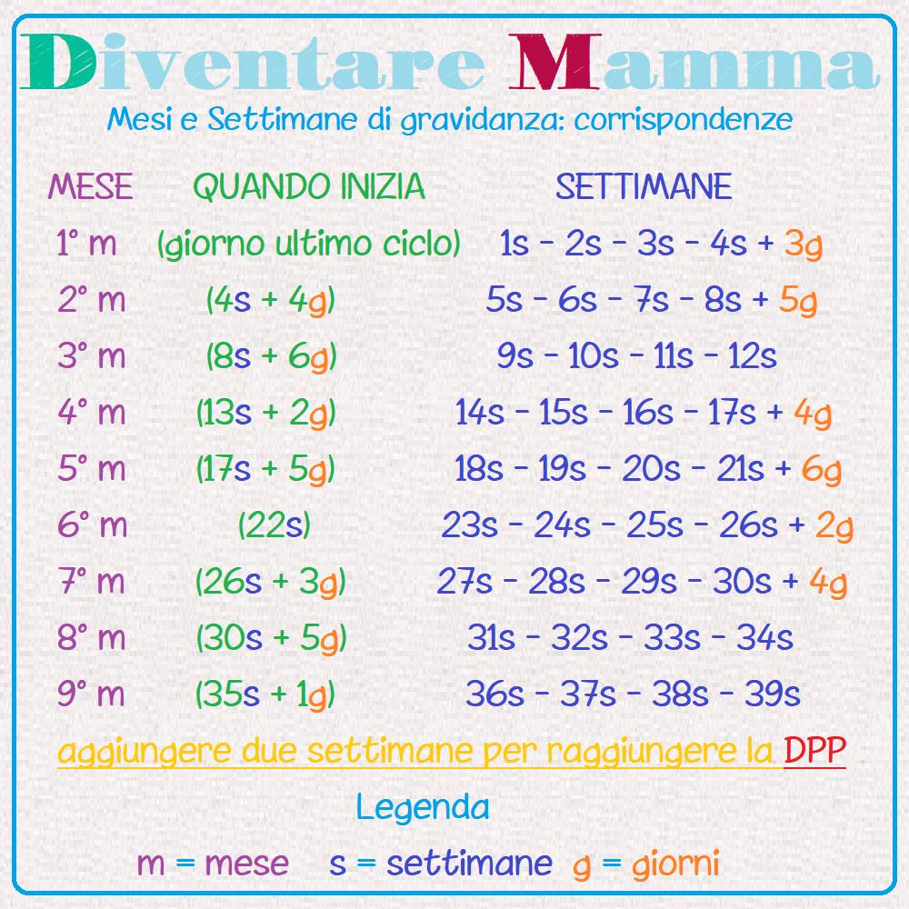 Tabella mesi e settimane di gravidanza Mesi_e11