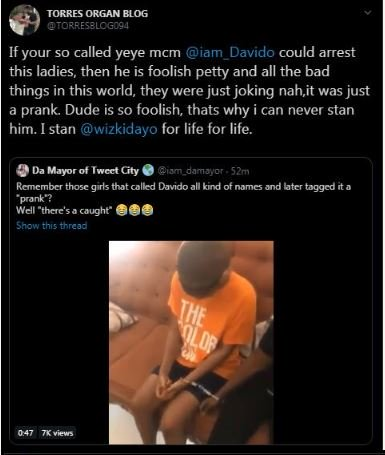 False Pregnancy : Davido Replied A Fan Who Condemned The Arrest Of Two Ladies  1-18710