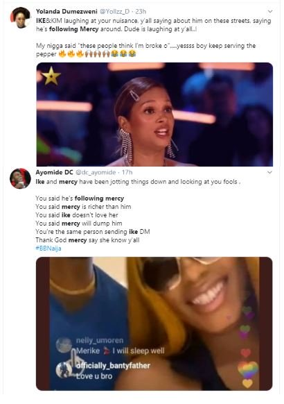 """See What Bbnaija's Ike Said After Being Trolled On Social Media For """"Following Mercy Everywhere She Goes"""" 2-13310"""