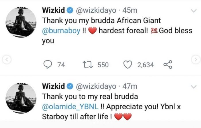 Wizkid Appreciate Naira Marley, Burna Boy, Olamide & Others For The Shutdown of His Show 2-85-710