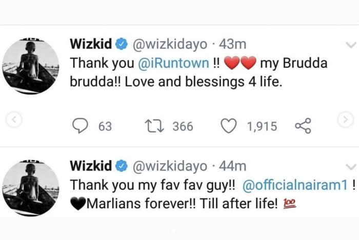 Wizkid Appreciate Naira Marley, Burna Boy, Olamide & Others For The Shutdown of His Show 3-42-710