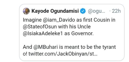 """""""You Are Useless"""" — Davido Blasts APC Supporter On Twitter 3-7310"""