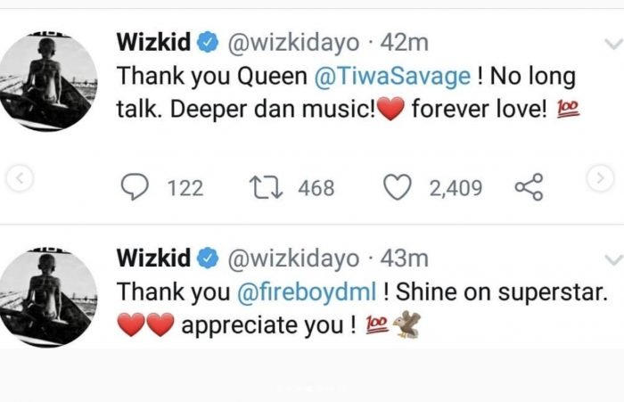 Wizkid Appreciate Naira Marley, Burna Boy, Olamide & Others For The Shutdown of His Show 4-12-710
