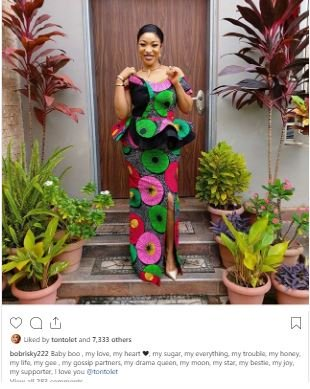 'My Boo, My love, My Life,' Says Bobrisky As He Gushes Over Tonto Dikeh Captur13