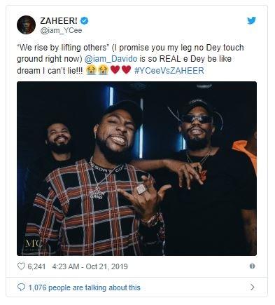Rapper Ycee Praises Davido As The Realest (Read Full Detail) Davido25