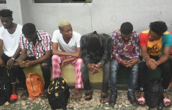 Police parade six men as suspected homosexuals in Abia state Homo10
