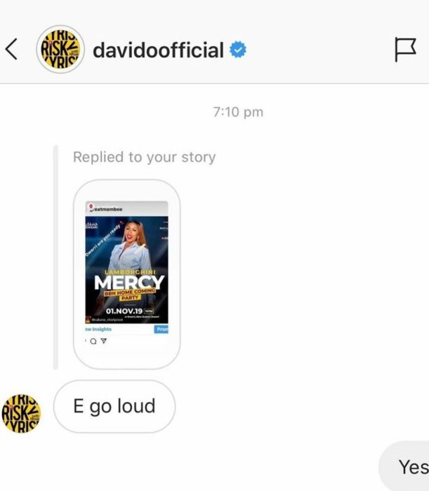 """""""E Go Loud""""- Davido Speaks On Mercy's Homecoming Party Mercy-13"""