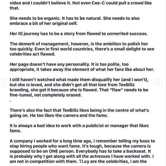 Tacha And Teebillz Relationship Will End In Tears – Nigerian Writer, Isi Bewaji Writes An Open Letter Tacha-18