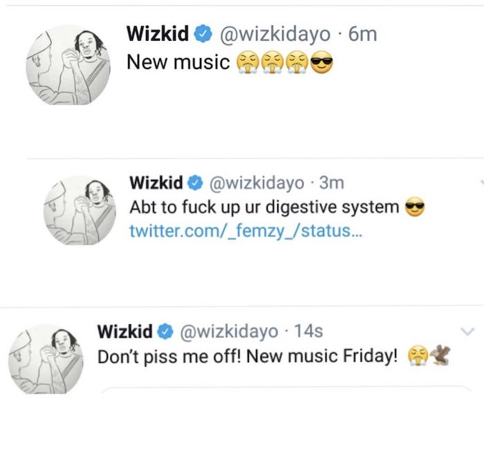 """""""I'm About To Fvck Up Your Digestive System"""" – Wizkid Says As He Set To Release New Song On Friday Wizkid25"""