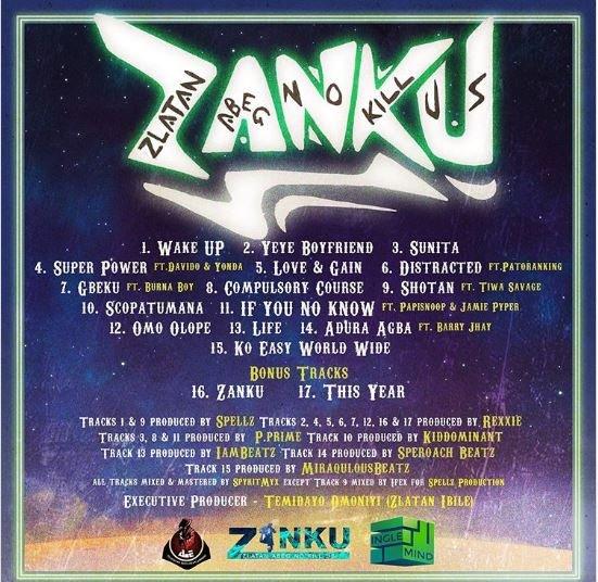 Zlatan Announces Album Release Date With Tracklist Zanku10