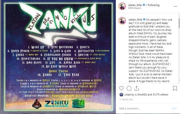 Zlatan Announces Album Release Date With Tracklist Zlan10