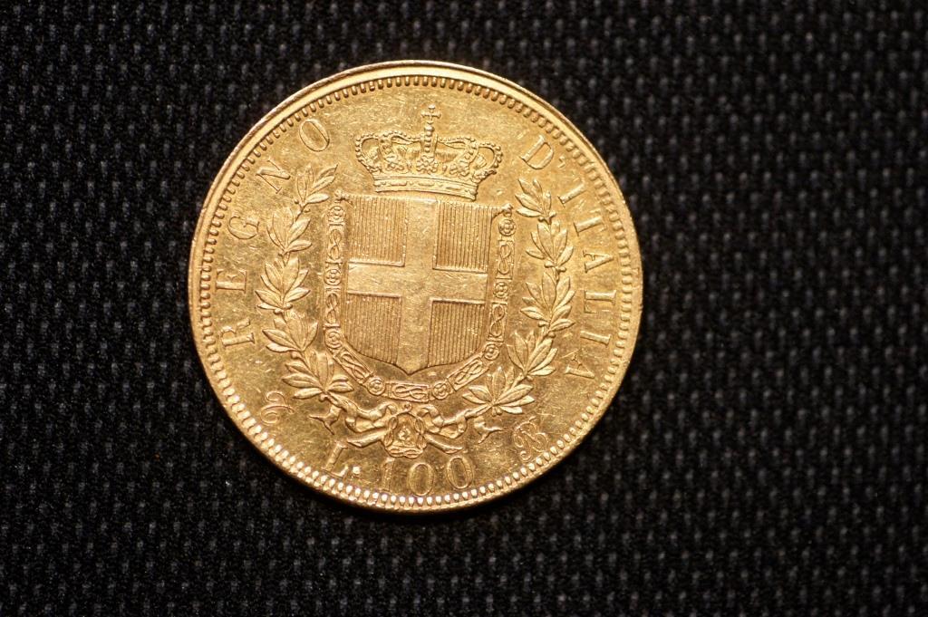 100 Liras Italianas de 1864 Vittorio Emanuel II 100_li11