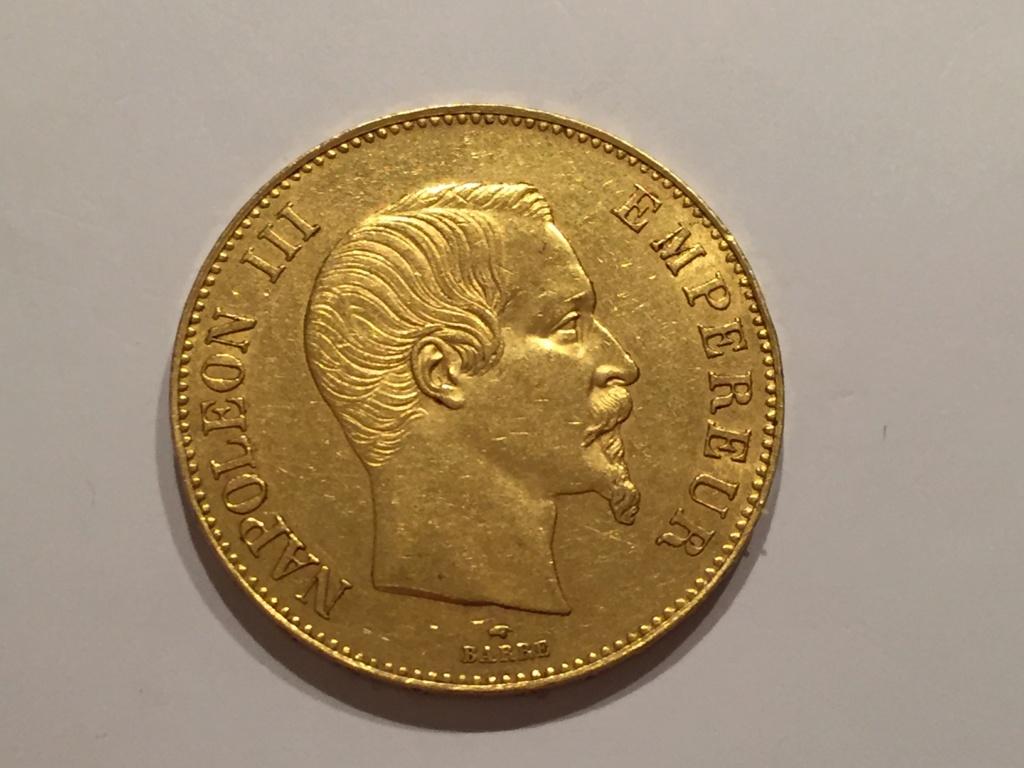 100 Francs Or Napoleon III  1855 A Img_6511