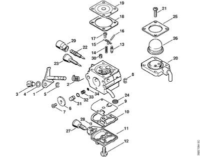 carburatore decespugliatore Stihl FS80 392et010