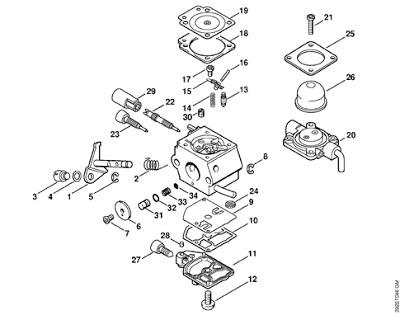 carburatore decespugliatore Stihl FS80 Carbur12