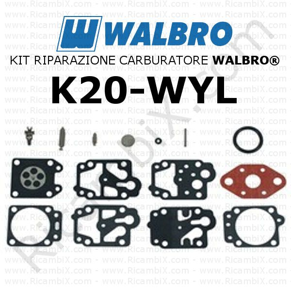 Codice membrane ricambio Walbro WYL 58A 940 Kit-ri10