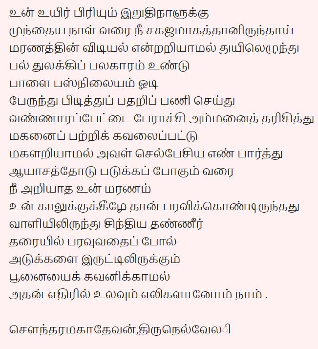 வாழ்க்கை பேராச்சரியம் - கவிதை Kavith12