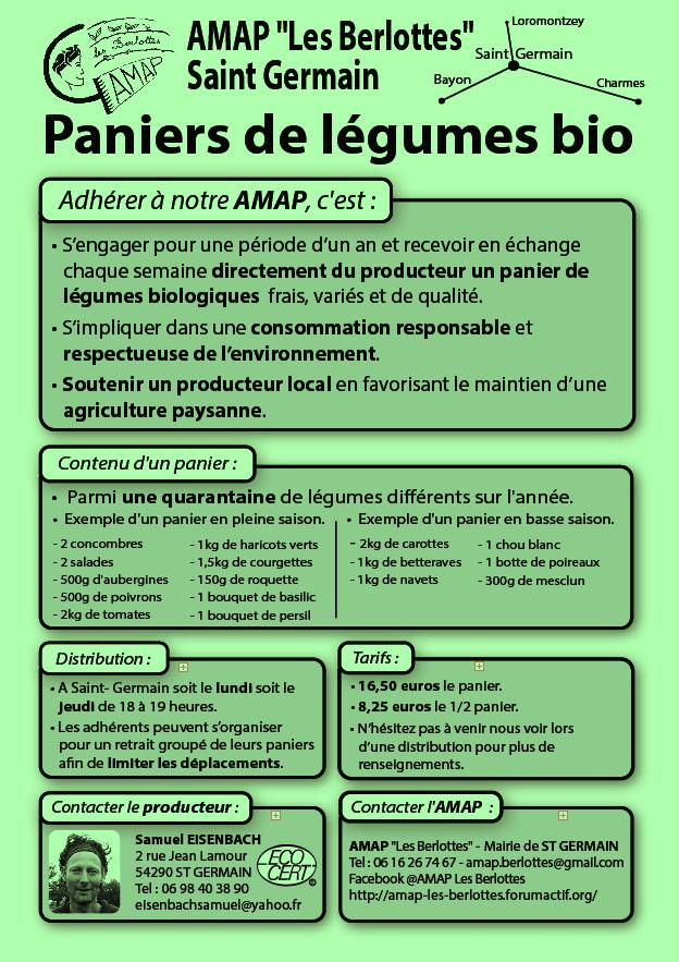 """Fonctionnement de L'A.M.A.P. """"Les Berlottes""""  Flyer_10"""