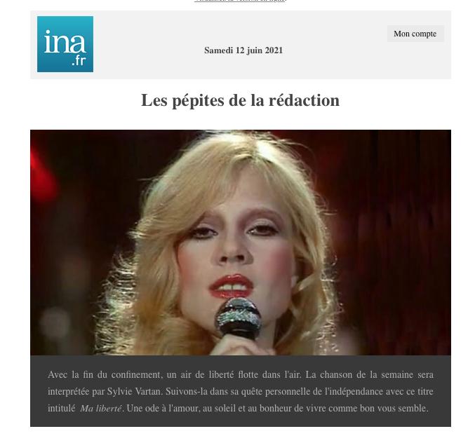 """INA - Sylvie chante """"Ma liberté"""" Screen81"""