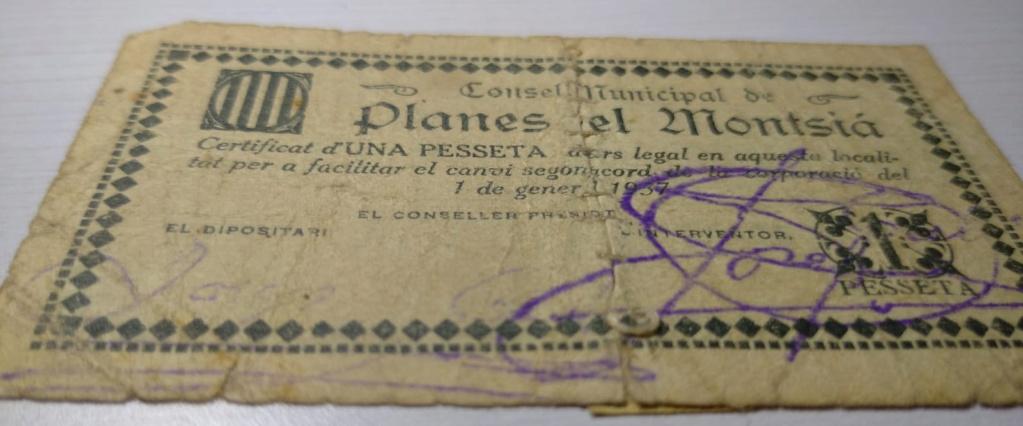 1 Pesseta Planes del Montsià, 1937 (2ª Emisión)  1ptaan10