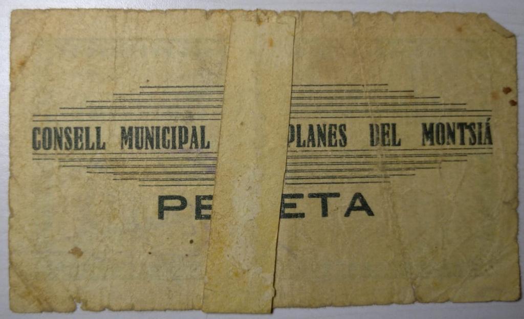 1 Pesseta Planes del Montsià, 1937 (2ª Emisión)  1ptaan11
