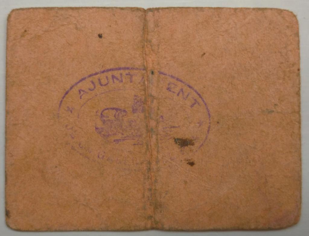 50 cèntims la Galera del Pla (el Montsià). 1a emissió juliol 1937 Galera11
