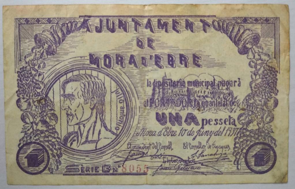 1 Peseta Móra D'Ebre, 1937 Mora_a10