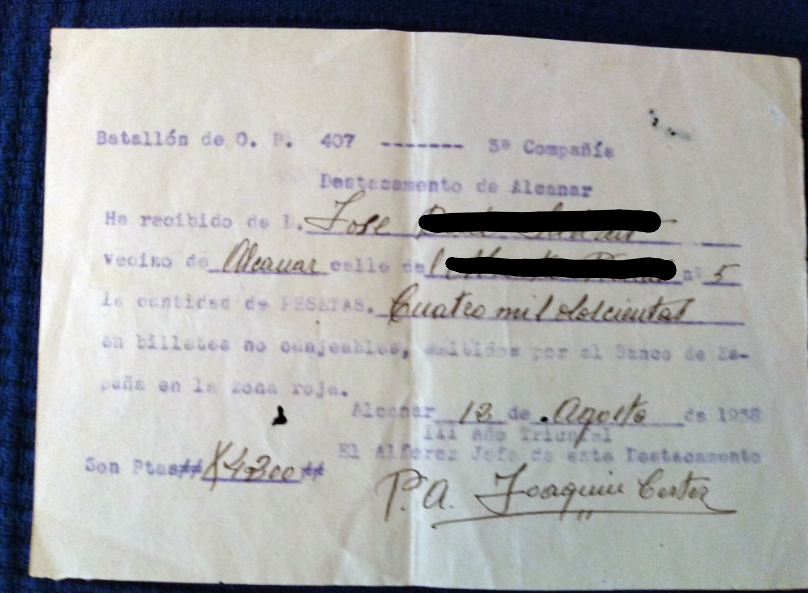 Documento canje billetes guerra civil Screen13