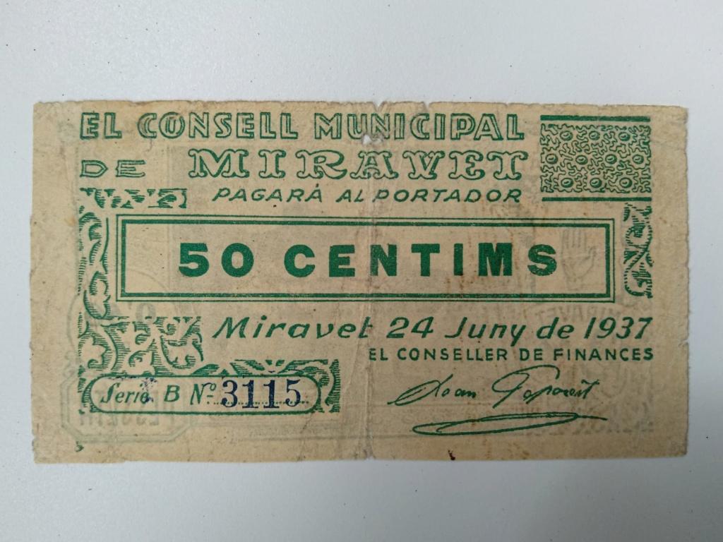 50 cèntims de Miravet (Ribera d'Ebre). Juny 1937.  Whatsa18